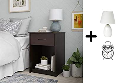 Set of 2 Nightstand MDF End Tables Pair Bedroom Table Furniture