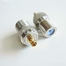 Davitu 1x F TV Female Jack To MCX Male Plug RF Connector Straight F/M Adapter 75 Ohm
