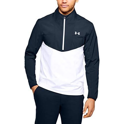 Under Armour Herren Storm Windstrike Golf 1/2 Zip Jacke, Academy Blue (408)/Weiß, X-Large