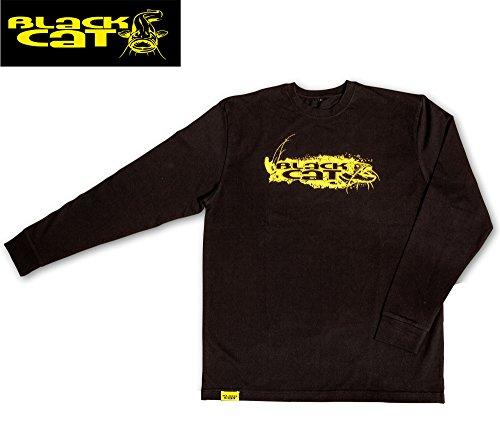 Blackcat Black Cat - Maglietta a maniche lunghe, taglia XL, colore: Nero