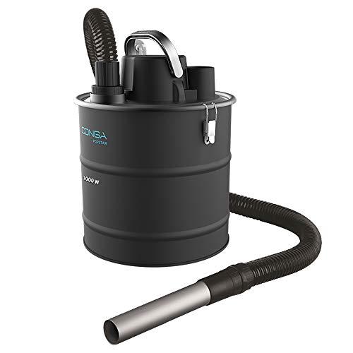 Cecotec Aspirador Cenizas Conga Popstar 10180 Ash. 1000W, Boquilla de Aluminio, Manguera de Aspiración Resistente con Recubrimiento metálico, Capacidad hasta 18 L, Incluye Boquilla para Juntas
