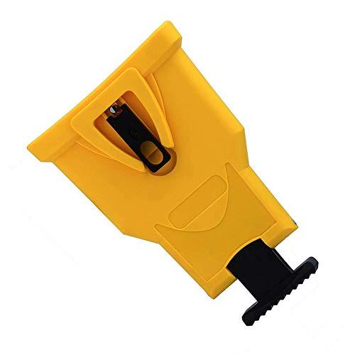 KUNSE Afilador de Dientes de Motosierra Amarillo Afilador de Motosierra de plástico Kit de Afilado de Cadena de Motosierra de Montaje en Barra