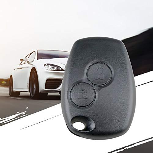 Autoschlüsselgehäuse mit 2 Tasten, für Renault Dacia Modus Clio 3 Twingo Kangoo 2, ohne Logo, Schwarz