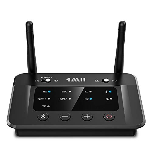 1Mii B03 Long Range Bluetooth 5.0 Transmitter Receiver for TV Home...