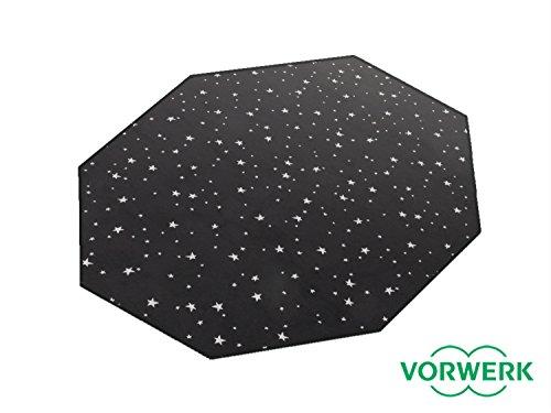 HEVO Laufgitter Einlage und Unterlage Vorwerk Stars schwarz Teppich 200x200 cm Achteck