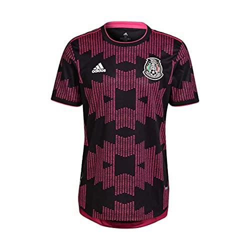 adidas México Primera Equipación Authentic 2020-2021, Camiseta, Black-Real Magenta, Talla S