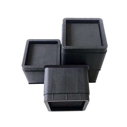 Knowled Elevadores de Muebles Ajustables Premium - Elevador de Cama, Elevador de Mesa, Elevador de Silla o Elevador de Sofá (4 Pack, Negro)