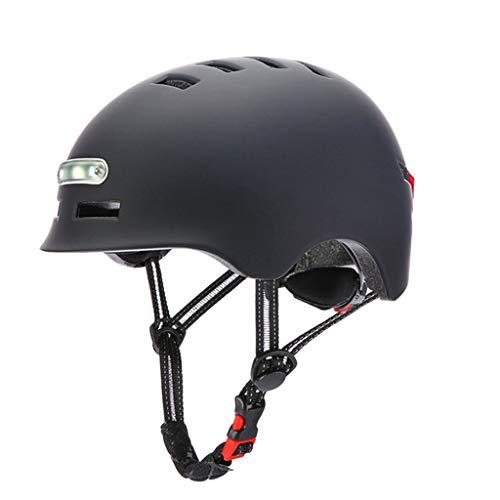 WE-KELLOKITY Casco de equitación, casco de ciclismo con luz trasera de advertencia, carga USB integral, casco de seguridad MTB