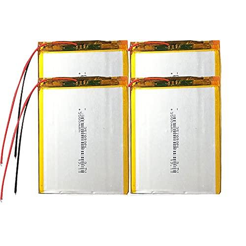 4 Uds 3.7 v 3500 Mah PolíMero De Litio 357090 Batería Recargable,...