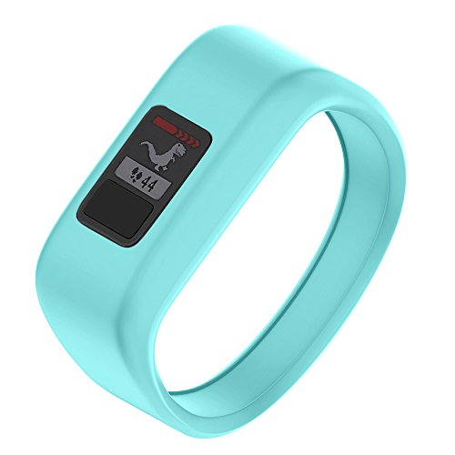 NotoCity Compatible with Garmin Vivofit JR/JR 2/3 Bands,Soft Silicone Replacement Watch Bands for Boy Girls,Mint Small