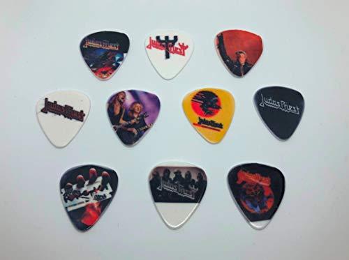 Judas Priest Gitarrenplektren (10 Plektren / 10 verschiedene Designs)