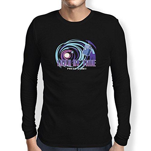Texlab Herren Lord of Time Video Game Langarm T-Shirt, Schwarz, M