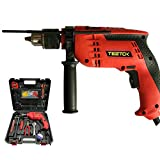 650W Impact Hammer Drill Screwdriver Action Power Corded Tool, Hammer Screwdriver Drill 3 in 1 104 Accessories...
