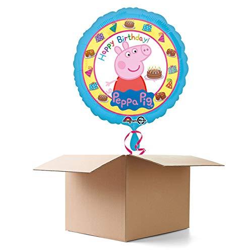 CREATIV DISCOUNT Ballongrüße / Geschenkballons / Ballonversand, Happy Birthday Peppa Wutz, 1 Ballon