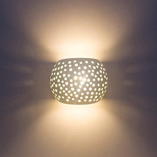 DINGYGJ Aplique de Pared Aplique Moderno 5W Luz Blanca cálida Tipo de protección LED G9 Protección del Medio Ambiente Material de Yeso Natural Lámparas de Pared for Sala de Estar Dormitorio