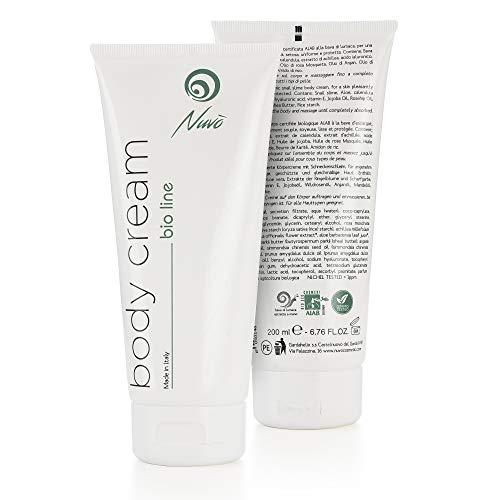Nuvo 'Snail Slime Body Cream 200ml PRODOTTO ORGANICU CERTIFICATU 12 Principi attivi naturali Prutittore nutritivu Pelli setose 100% Made In Italy