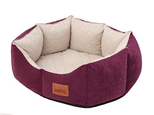 New York - Cama para perros, espacio para dormir, perro/gato, colchón (M (53 x 45 cm), color rojo