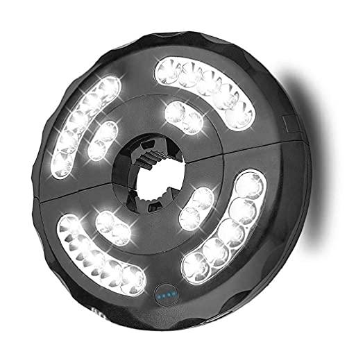 Ydh - Luces de sombrilla para patio, 28 LED, luz de sombrilla inalámbrica, luz de sombrilla de patio recargable para sombrillas de patio, tiendas de campaña u otros usos al aire libre