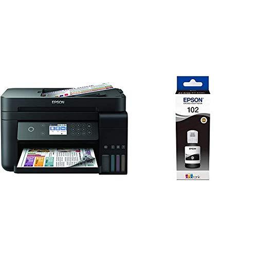 Epson EcoTank ET-3750 3-in-1 Tinten-Multifunktionsgerät (Kopierer, Scanner, Drucker, DIN A4, ADF, Duplex, WiFi, Ethernet, Display, USB 2.0), großer Tintentank, hohe Reichweite, niedrige Seitenkosten