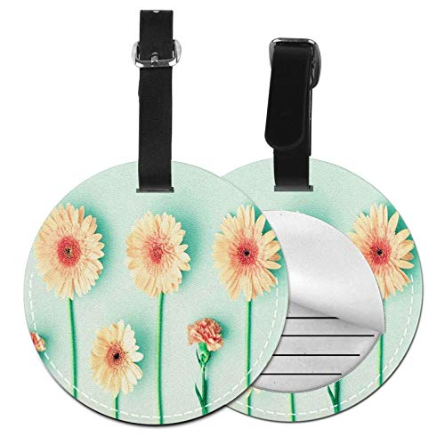 Luggage Tags Daisies Carnations Flower Suitcase Luggage Tags Business Card Holder Travel Id Bag Tag