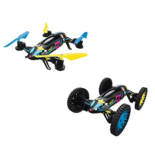 N\A 2in1 Race Quadrocopter Drohne + RC-Car Racemachine von Hama mit 720p Kamera Ferngesteuertes Auto/Quadcopter für Kinder und Erwachsene Flugzeuge Helikopter