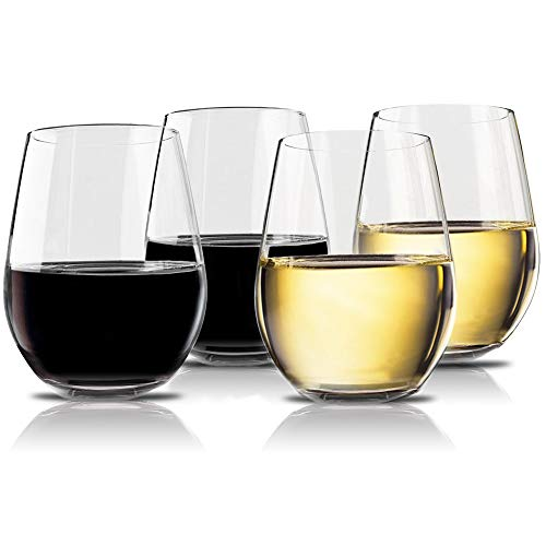 Unbreakable stemless wine glasses