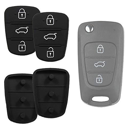 Klapp Schlüssel Gehäuse Funkschlüssel Fernbedienung Autoschlüssel Tastenfeld Austausch kompatibel für Hyundai i20 / i30 / Elantra / ix20 / ix35 / Accent/Kia/Rio/CEE´d/Sportage/Sorento/Picanto