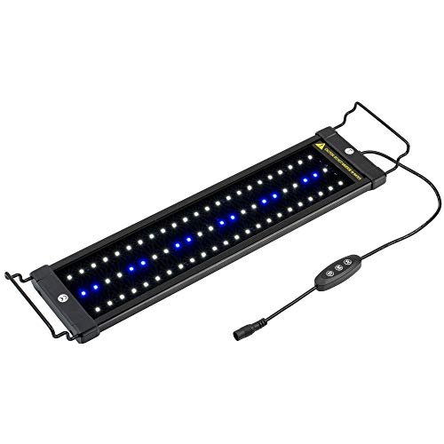NICREW ClassicLED Aquarium Light, Fish Tank Light with Extendable Brackets,...
