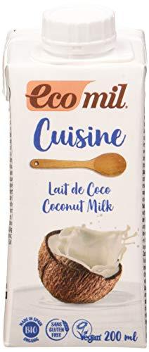 EcoMil Cuisine Coco, Crema de Coco para cocinar - 200 ml