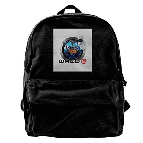 NJIASGFUI Rucksack aus Segeltuch mit Comic-Figuren, Computer-Animation, für Fitnessstudio, Wandern, Laptop, Schultertasche für Männer und Frauen