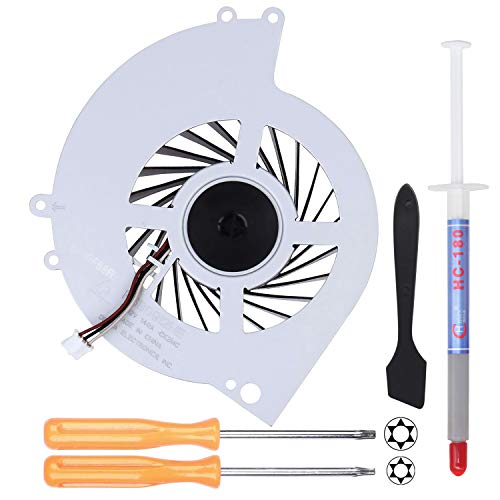 YEECHUN New Replacement Internal Cooling Fan KSB0912HE for Sony Playstation 4 PS4 CUH-12XX CUH-1200 CUH-1200AB01 CUH-1200AB02 CUH-1215A CUH-1215B (with Screwdrivers T8+T10,Thermal Paste,Spatula)