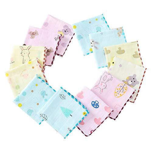 ガーゼ ハンカチ 24枚 ベビー フェイスタオル おしぼり ダブルガーゼ 綿100% 柔らかい 子供 保育園 新生児 赤ちゃん 男の子 女の子 25×25�p