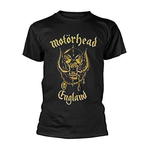 Collectors Mine Herren T-Shirt Motörhead-England Classic Gold, Gr. 48 (M), Schwarz (Schwarz)