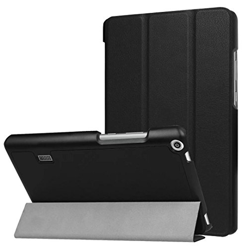 Xinda HUAWEI MediaPad T3 7.0 Case - Ultra Slim Lightweight Smart Shell Stand Cover Case for HUAWEI MediaPad T3 7.0 Inch Tablet 2017 Release, (black)