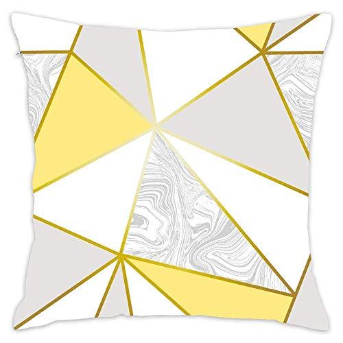 NA Papel Pintado metálico de mármol de Zara Funda de Almohada de Tiro de Oro Mostaza Funda de cojín Decorativo para el hogar Algodón para sofá Dormitorio