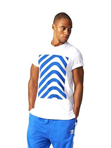adidas Hrgbone Block T Camiseta, Hombre, Blanco (Blanco), L