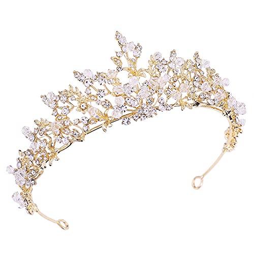 Corona de boda para novia con diamantes de imitación de princesa para...