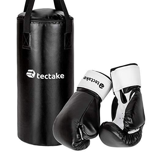 TecTake Kinder Box Set Boxsack 62cm gefüllt mit 9kg + Halterung inkl. Boxhandschuhe mit Klettverschluss