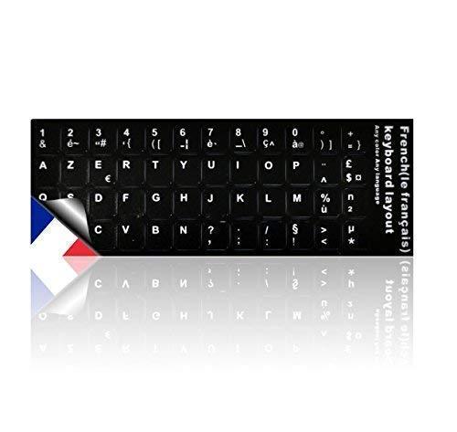 LEDELI Tastaturaufkleber Tastatur Aufkleber Keyboard Sticker Tastatur-Aufkleber für PC, Laptop, Notebook, Computer-Tastaturen (AZERTY Französisch Layout)