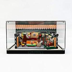 Elroy369Lion Vitrina de acrílico para Lego Friends 21319 con fondo de inyección de tinta, base negra para Lego 21319 (no incluye kit Lego)