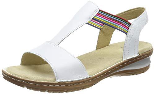 ARA Damen Hawaii 1237206 T-Spangen Sandalen, Weiß (Weiss 77), 42 EU