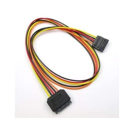 Computer Cables Single Sleeved SATA 15Pin Male to Female Power Extension Cable Cable Length: 40cm, Color: Purple