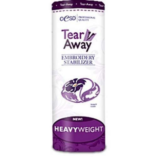"OESD Heavy Weight Tear-Away Stabilizer 2.5 oz. White 15"" x 10 Yard Roll"