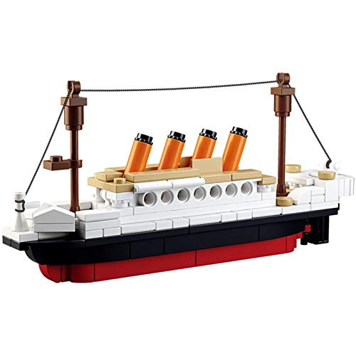 SuSenGo Building Blocks Titanic ShipBoat 3D Model Educational Gift Toys for Children 194PCS