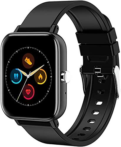 Smart Watch Recibir/Hacer Llamada Fitness Tracker con 1.54 pulgadas Full Touch Life Resistente al Agua Llamada Bluetooth Smart Watc-Negro