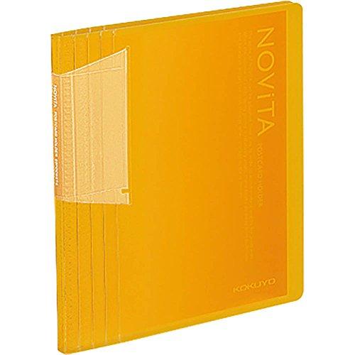 コクヨ ファイル ポストカードホルダー ノビータ A6 60枚 黄 ハセ-N60Y