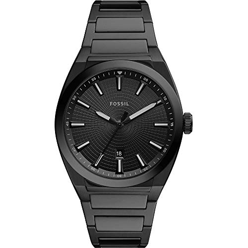 Fossil FS5824 - Reloj de pulsera para hombre (acero inoxidable, 5 bar, analógico, fecha, color negro)