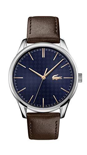 Lacoste Reloj Analógico para Hombre de Cuarzo con Correa en Cuero 02011046