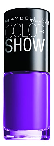 Maybelline New York Make-Up Nailpolish Color Show Nagellack Lavender Lies / Ultra glänzender Farblack in strahlendem Violett 1 x 7 ml