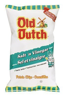 Old Dutch Salt & Vinegar Flavoured Potato Chips 255g {Imported from Canada}